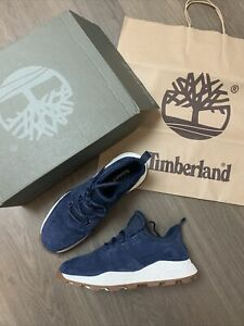 New TIMBERLAND brooklyn Oxford Navy suede trainers Shoes size UK 10 EU 44.5