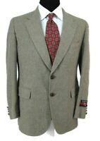 Cricketeer Vtg Tweed Blazer 38S Beige Tan Gray Wool Sport Coat Jacket Mens NWOT