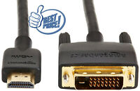 HDMI Input to DVI Output Adapter Cable - PICK YOUR SIZE   (BEST DEALS IN US)