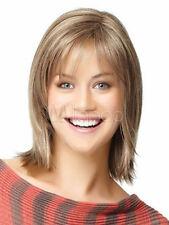 100% Real Hair! New Trends Blonde Brown Short Natural Straight Wig Human Hair