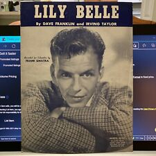 sheet music frank sinatra-lily belle-from1945
