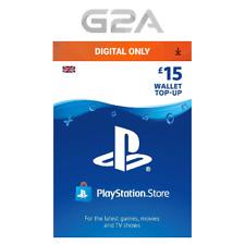 Playstation Network £15 Card - PSN 15 GBP UK Store Key / PS4 PS3 PSP - 15 Pounds