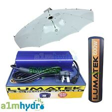 Lumatek 600W Digital Ballast Parabolic Shade Complete Grow Light Kit Hydroponics