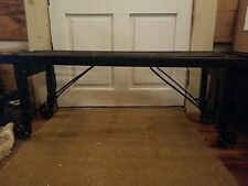 VintagE / ANTIQUE clothes washing wooden tub bench   painted black