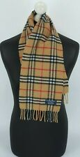 BURBERRY SCARF 100% LAMBSWOOL FOR BOYS AND GIRLS MADE IN ENGLAND BEIGE 1