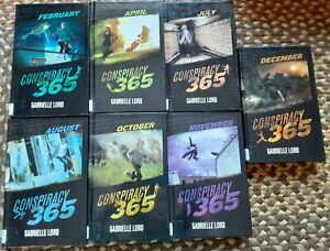 Conspiracy 365 Book Lot of 7 hardcover Gabrielle Lord Feb,Apr,Jul,Aug,Oct-Dec