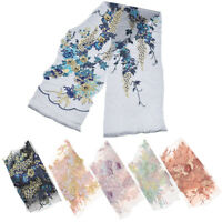 3D Embroidered Flower Lace Fabric Applique Patch Wedding Dress Clothes DIY Craft