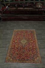 Nice Handmade Traditional S Antique Kashan Persian Area Rug Oriental Carpet 5X8