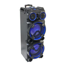 Ibiza Sound 300w Standalone Speaker inc. Wireless Mic Karaoke USB SD Bluetooth