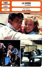 Fiche Cinéma. Movie Card. La bamba (USA) 1987 Luis Valdez