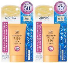 SHISEIDO SENKA Mineral Water UV Essence Q10 Aging Care SPF50+ PA++++ Japan ×2