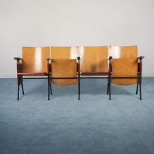 Sedia sedie fila 4 poltrone cinema legno design anni '60 vintage modernariato