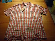 Fjällräven Abisko Cool Shirt S/S  FLAME ORANGE  XXL  SLIM FIT  NWT