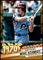 Mike Schmidt 2020 Topps Decade's Best Series 2 5x7 Gold #DB-47 /10 Phillies