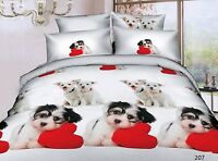 3D Effect Bedding Complete Set(207) With Duvet Cover,Pillow Cases & Fitted Sheet