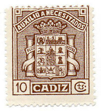 Sello Local Guerra Civil Cadiz -Cat. Galvez B131.  ORD:1400