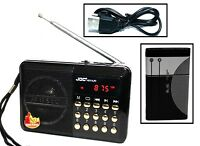Küchenradio Lautsprecher Akku Mini Box Musikbox FM Radio MP3 Player USB SD Aux 1