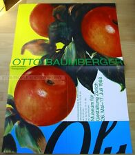 swiss EXHIBITION xxl POSTER 1988 - OTTO BAUMBERGER - DESIGN MUSEUM ZÜRICH apple