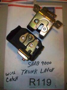 1995 Saab 9000 Trunk Latch Mechanism W/ Actuator & Hasp-Catch TESTED OEM#R119>