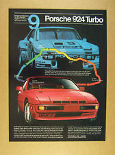1980 Porsche 924 Turbo & Turbo Carrera race car photo vintage print Ad