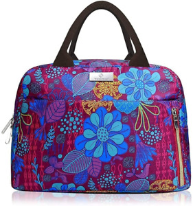 Lunch Bags For Women Insulated Lunch Box Tote Organizer Holder Purple