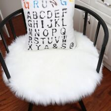 Home Bedroom Hairy Floor Mat Carpet Blanket Round Faux Fur Fluffy Rug Shaggy