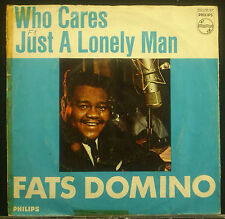 """7"""" FATS DOMINO - who cares / just a solitaire man"""