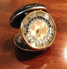Vintage Madmen 1960s Linden World Travel Alarm Clock with Time Zones