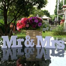 Letters Mr & Mrs Wedding Sign White Wooden Letters Birthday Party Decorations