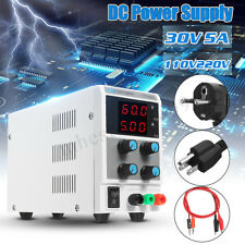 30V 5A Adjustable Variable Digital Regulated DC Power Supply Lab Grade w/ Cable