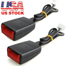 2pc Black 78 Car Front Seat Belt Buckle Socket Plug Connector With Warning Cable Fits Mitsubishi Diamante