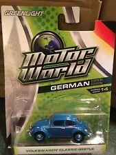Greenlight MOTOR WORLD Series 14 Volkswagen Classic Beetle   Blue