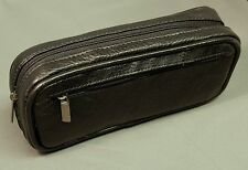 Premium leather case for E-cigarette (ENDS) - Black top grain leather.