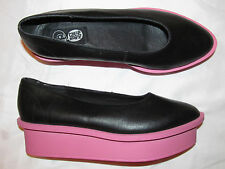 CHEAP MONDAY FORM BALLERINA black and pink wedge platform shoes 10 NEW