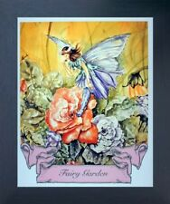 Fairy Garden Rose Mythical Espresso Framed Picture Art Print (20x24)