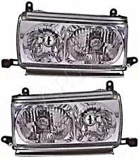 Headlight Set Crystal Clear For TOYOTA Land Cruiser 80 90-97