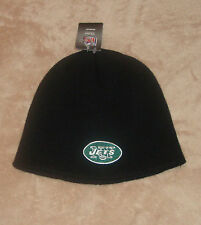 New York Jets Football REEBOK NFL Uncuffed Black Winter Knit Hat New Beanie Cap