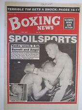 Boxing News 31 July 1992 Pat Barrett Derek Angol-Tyrone Booze Benn Dodson,Reid,