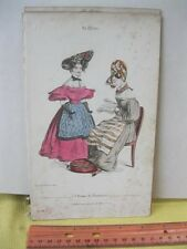 Vintage Print,MODES DE FANTAISIE,Fashion Print,1810-30,Paris
