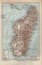 Landkarte map 1897: MADAGASKAR. Africa Comoren Indischer Ozean Mosambik Afrika