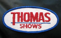 """THOMAS SHOWS EMBROIDERED SEW ON ONLY PATCH TRAVELING ROAD SHOW 4 1/4"""" x 2"""""""