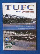 Torquay United v Crystal Palace-11/8/98 Worthington Cup 1st Rd 1st Leg Programme