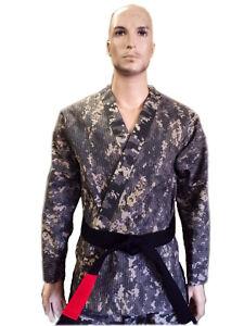 Brazilian Jiu Jitsu Grappling Kickboxing Gold Weave Digital Camouflage Uniform