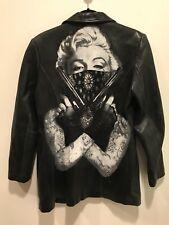 Marilyn Monroe Black Leather Jacket Medium Pelle Studio Custom Made