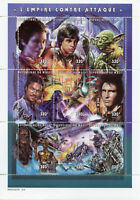 Mali 1997 MNH Star Wars Empire Strikes Back Yoda Luke Skywalker 9v M/S Stamps