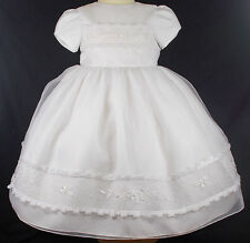 Sarah Louise dress girl gown WHITE christening bridesmaid wedding occasion 2 yr