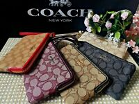 New Coach F58033 F54627 Corner Zip Wristlet New With Tags CHOOSE YOU COLOR!!