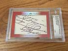 Jesse Owens & Carl Lewis 2017 Leaf Masterpiece Cut Signature signed card 1/1 JSA