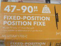 "Insignia 47"" - 90"" Fixed TV Wall Mount (NS-HTVMF1703-C) (AL)"