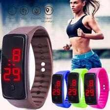 Students Unisex Run LED Digital Display Bracelet Watch Silica Gel Sports Watch
